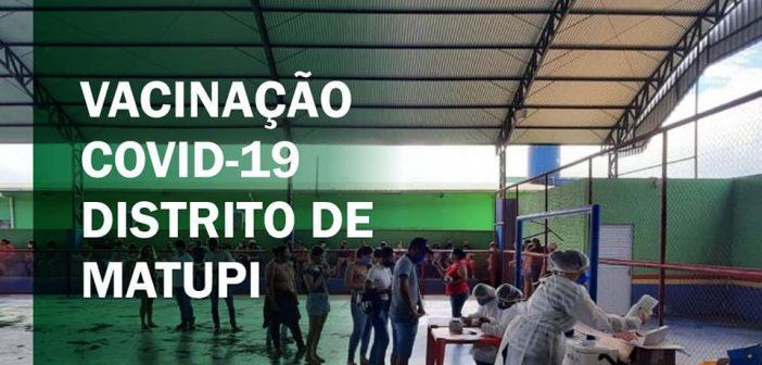 DISTRITO DE MATUPI (MANICORÉ) DEU INÍCIO A VACINAÇÃO CONTRA A COVID-19 DE 18 A 50 ANOS.