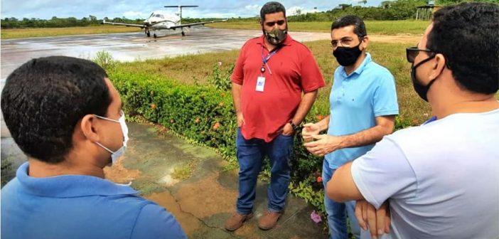 EQUIPE TÉCNICA DE AZUL LINHAS AÉREAS ESTIVERAM EM MANICORÉ REALIZANDO VISTORIAS NO AEROPORTO DA CIDADE