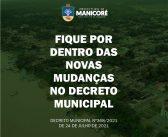 FIQUE  POR DENTRO DO DECRETO MUNICIPAL N°368 DE 24 DE JULHO DE 2021.